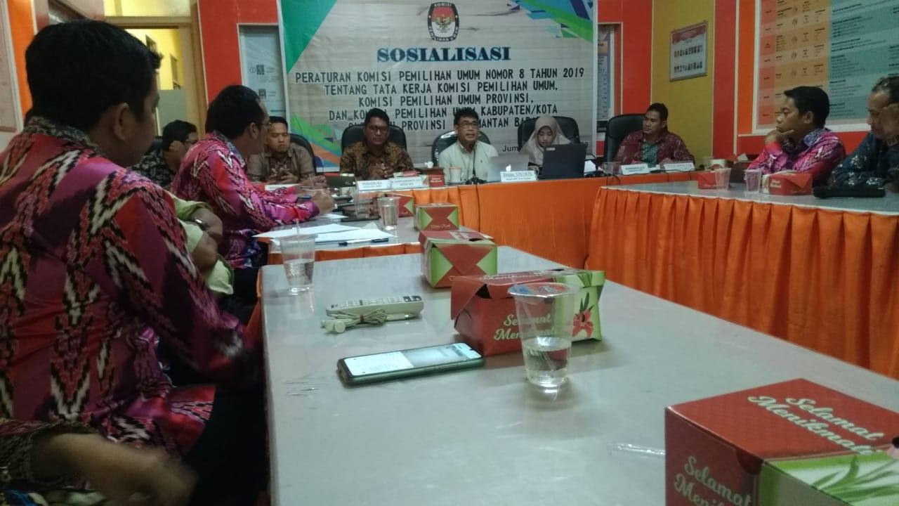 Sosialisasi PKPU Nomor 8 Tahun 2019
