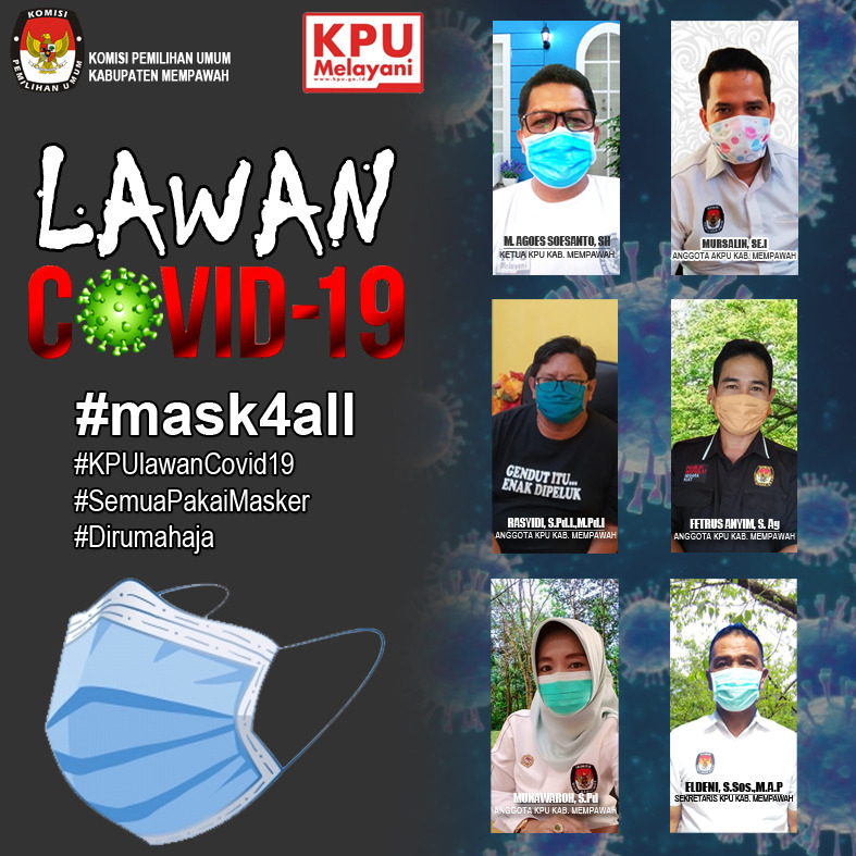 KPU Kabupaten Mempawah Lawan Covid-19