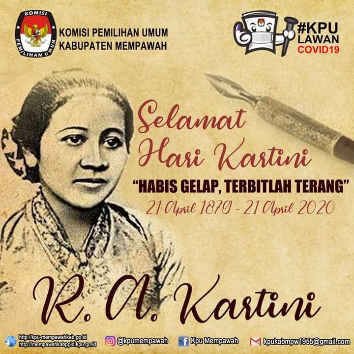 Selamat Hari Kartini 21 April 1879-21 April 2020